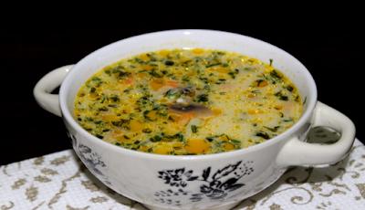 Вкусный сырный суп с шампиньонами, который ни кого не оставит равнодушным!